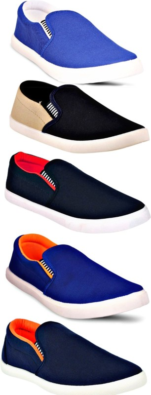 Hotmess Combo Pack of 5 Casual Shoes Loafers For Men(Multicolor)