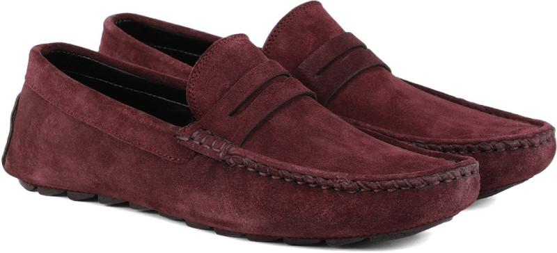 LOUIS STITCH Loafers For Men(Red)