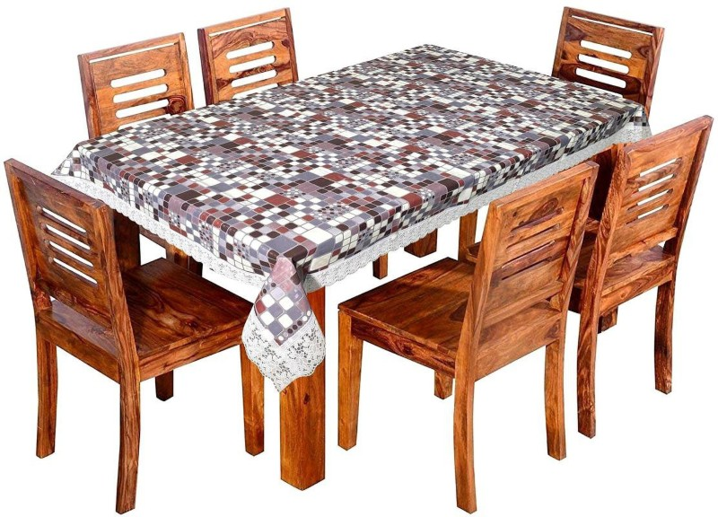 LooMantha Printed 6 Seater Table Cover(Multicolor, PVC)