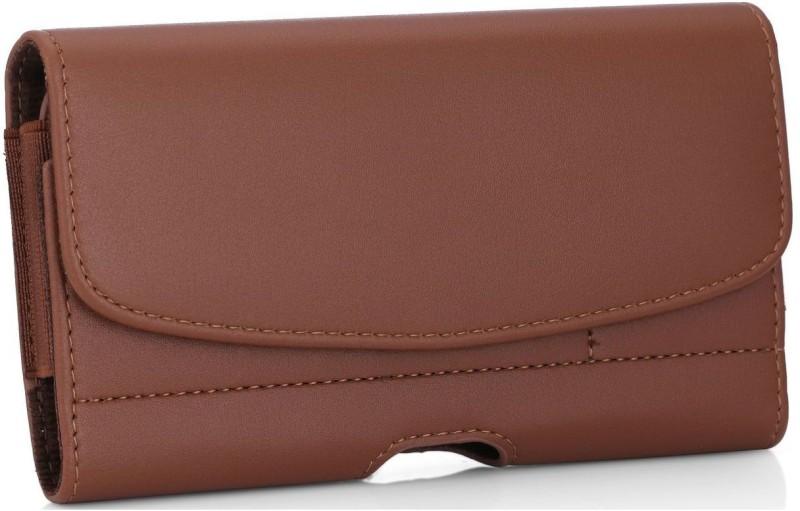 Mofi Wallet Case Cover for Oppo R15(Brown, Holster)