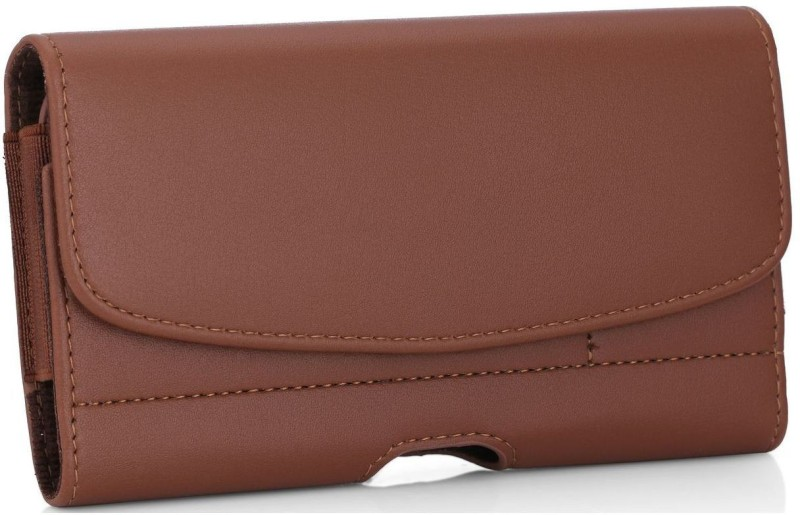 Cubix Wallet Case Cover for Oppo R15(Brown, Holster)