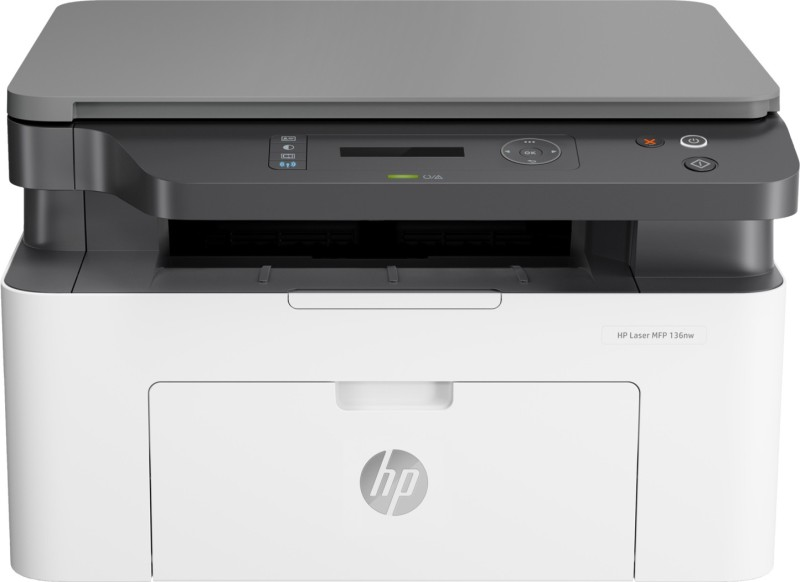 HP MFP 136nw Multi-function Monochrome Printer(White, Grey, Toner Cartridge)