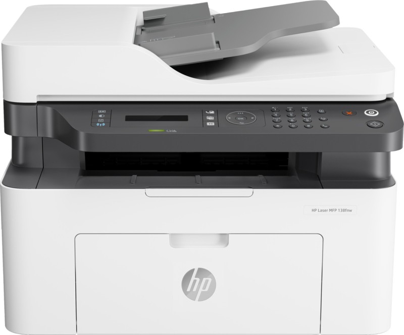 HP MFP 138fnw Multi-function WiFi Monochrome Printer(White, Grey, Toner Cartridge)