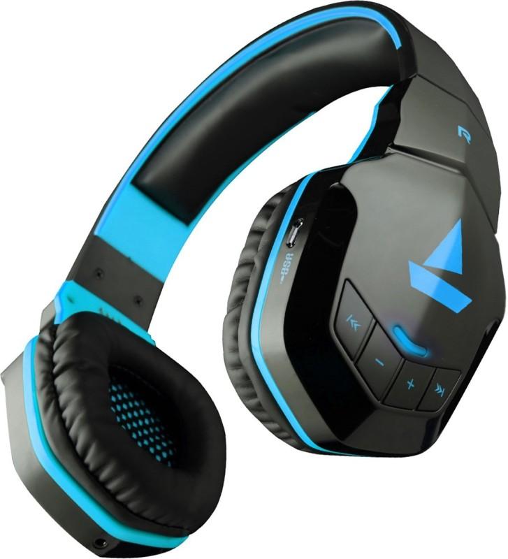 boAt Rockerz 510 Super Extra Bass Bluetooth Headset(Furious blue, Over the Ear)