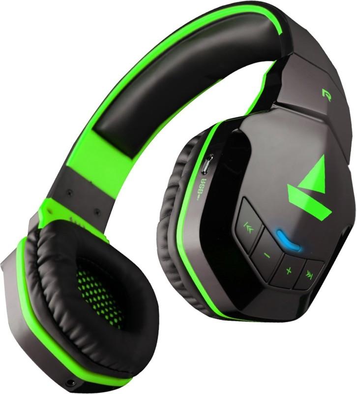 boAt Rockerz 510 Super Extra Bass Bluetooth Headset(Viper Green, Over the Ear)