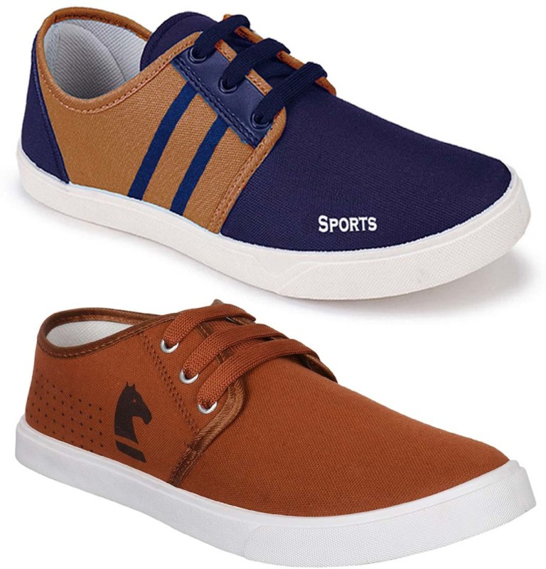 Camfoot Combo Pack of 2 Latest Collection Stylish Casual Shoes Casuals For Men(Multicolor)