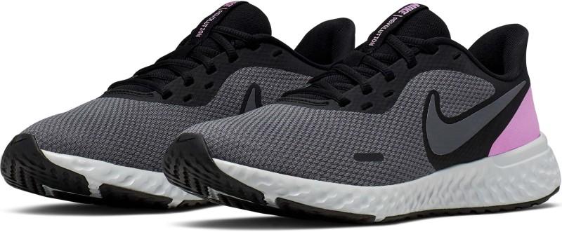 Nike Revolution 5 Running Shoes For Women(Black)