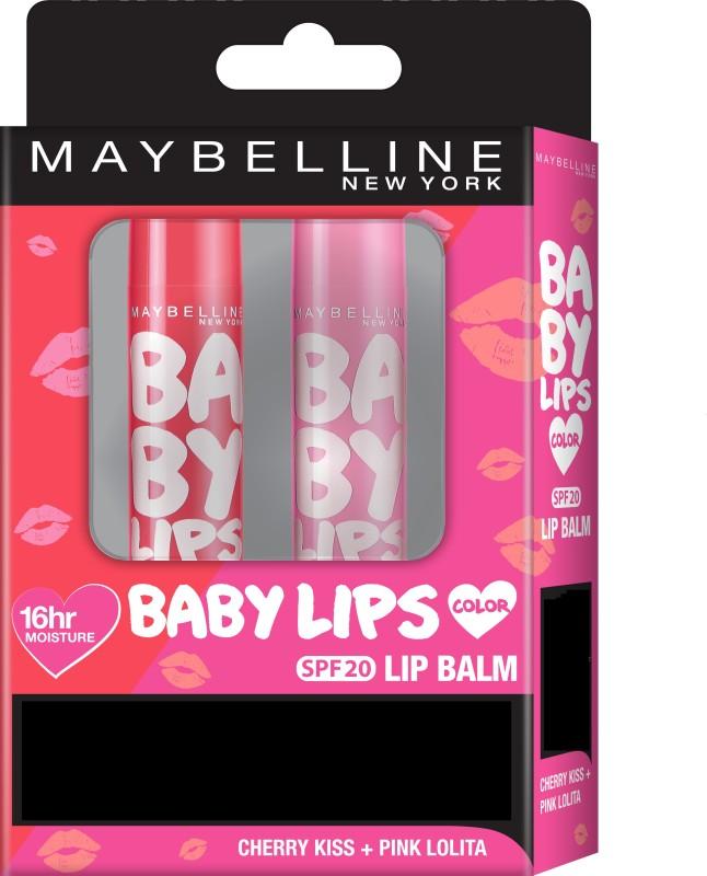 Maybelline New York Baby Lips Pink Lolita + Cherry Kiss(Pack of: 1, 8 g)