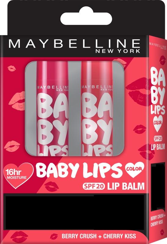 Maybelline New York Baby Lips Cherry Kiss + Berry Crush(Pack of: 1, 8 g)