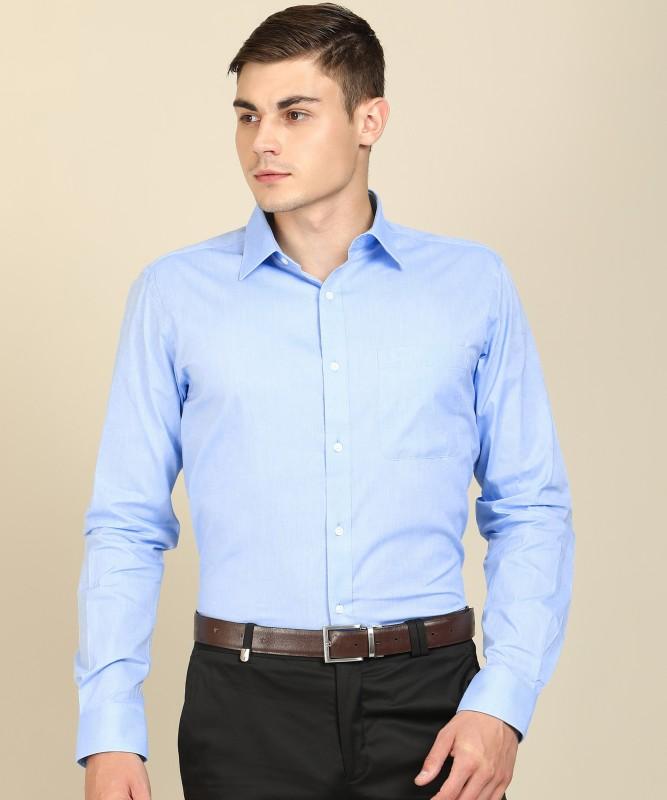 Raymond Men Solid Formal Light Blue Shirt