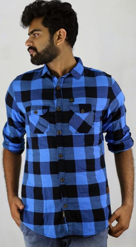 Indi Hemp Men Checkered Casual Multicolor Shirt