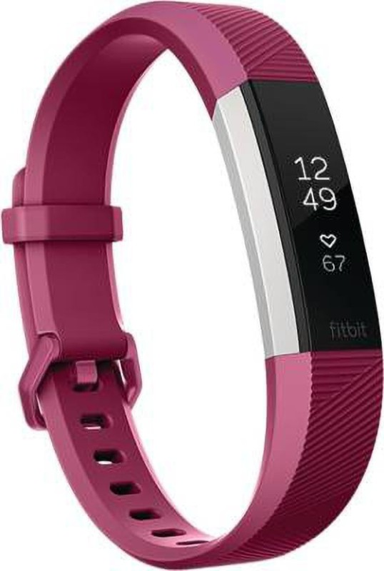 fitbit alta Fitness Tracker, Large(Purple Strap, Size : Free)