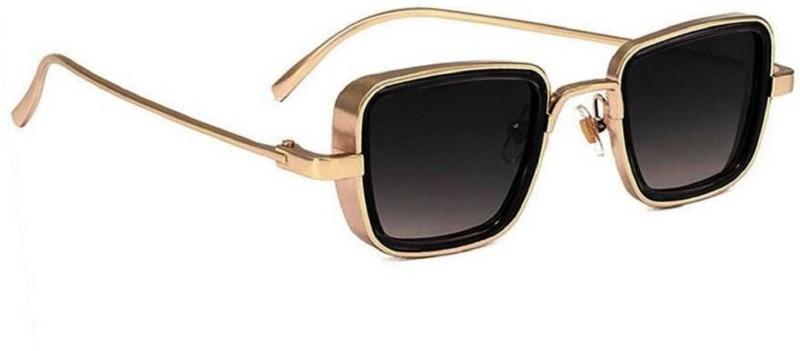 LA MEKNOS Retro Square Sunglasses(Black)
