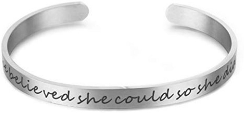 Peora Stainless Steel Silver Bracelet
