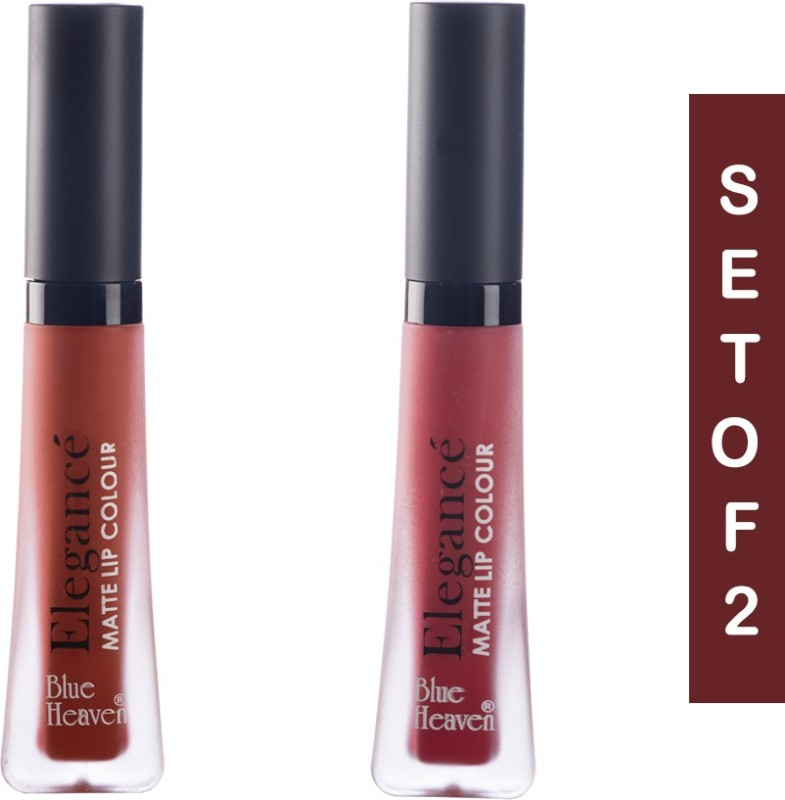 Blue Heaven Elegance Matte Lip Color 02 & 10(2 & 10, 12 ml)