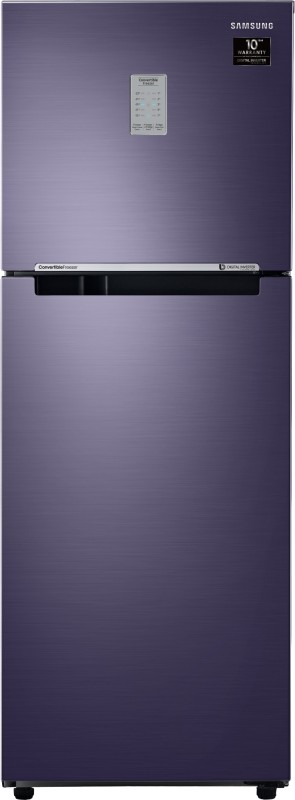 Samsung 253 L Frost Free Double Door 2 Star (2020) Convertible Refrigerator(Pebble Blue, RT28T3782UT/HL)