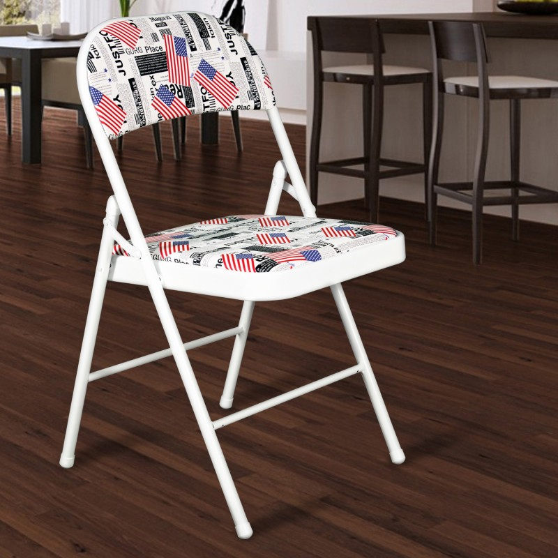 Story@Home Super Metal Outdoor Chair(Finish Color - Blue)