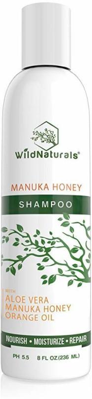 Wild Naturals Sulfate Free Shampoo : With Manuka Honey + Aloe Vera, For Hair Loss, Thinning Hair(236 ml)