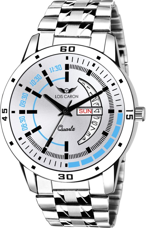 Lois Caron LCS-8175 DAY & DATE FUNCTIONING Analog Watch - For Men