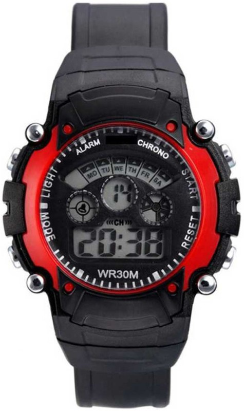 Fancy LED Digital 7 Light Red Color Kids Watch for Baby Girls and Baby Boys