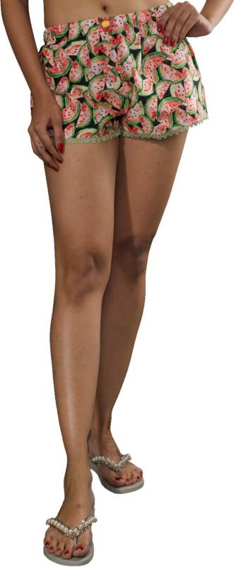 Mixpot Design Pvt. Ltd Printed Women Multicolor Beach Shorts