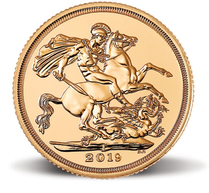"MMTC-PAMP India Pvt Ltd Sovereign 2019, aka ""Guinea"" 22 (916.7) K 7.98805 g Gold Coin"