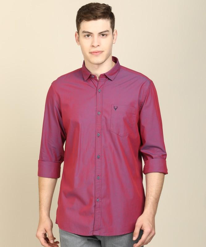 Allen Solly Men Solid Casual Purple Shirt