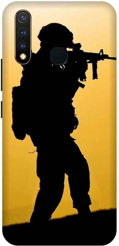 PHONE WALEY.COM Back Cover for Vivo Y19 (india, tiranga,indian army(Multicolor, Waterproof)