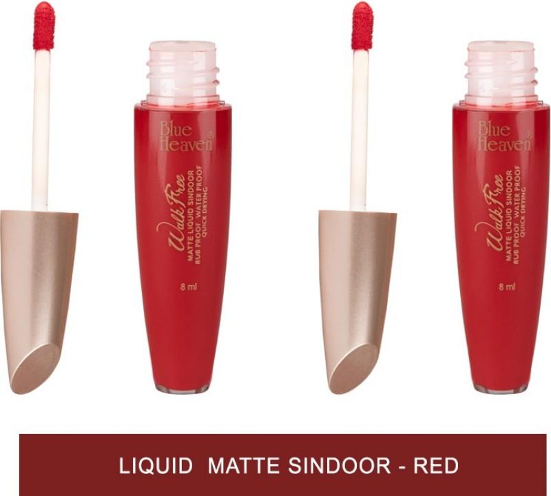 Blue Heaven Walkfree Matte Liquid Sindoor - Red Liquid Matte Sindoor(Red)