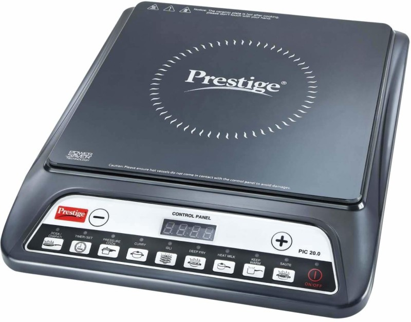 Prestige PIC 16 1200 Watt Induction Cooktop with Push button (Black) Induction Cooktop(Black, Push Button)
