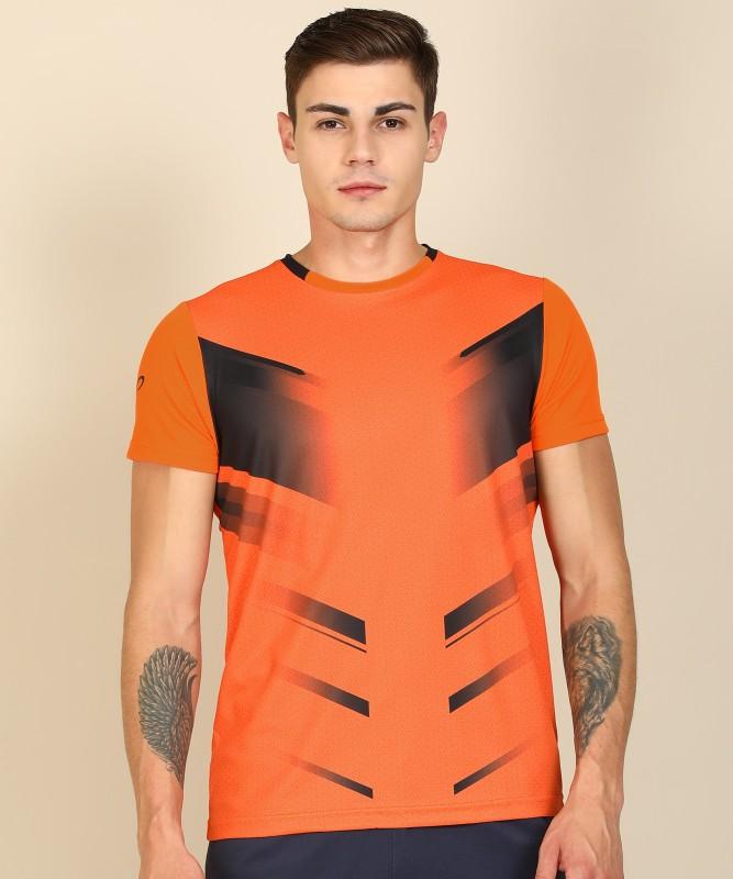 Proline Active Sports Men Round Neck Orange T-Shirt