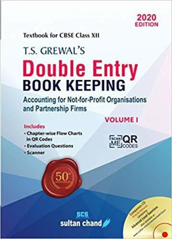 T.S. Grewal's Double Entry Book Keeping: Accounting for Not-for-Profit Organizations and Partnership Firms(English, Undefined, Grewal T.S.)