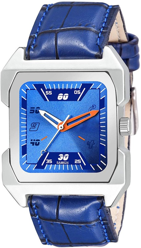 GANESH FASHION FAST AND TRACK FULLY BLUE SQUARE DIAL & BLUE STRAP. Analog Watch - For Men