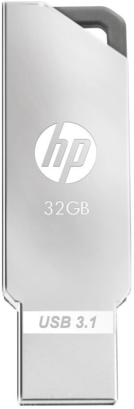 HP X740W Metal USB 3.0/3.1 Flash Drive 32 GB Pen Drive(Silver)
