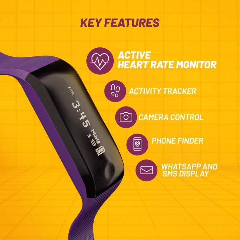 Fastrack SWD90066PP02 Reflex Beat(Purple Strap, Size : Regular)