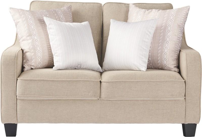 Urban Living Fabric 2 Seater Sofa(Finish Color - Beige)