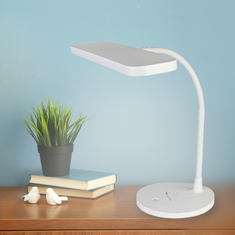 Syska Rechargeable touch control Table Lamp(24 cm, White)