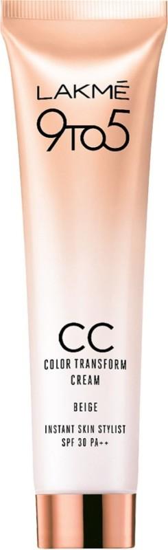 Lakme 9to5 CC Color Transform Cream Beige SPF 30 PA++ 30g(30 g)