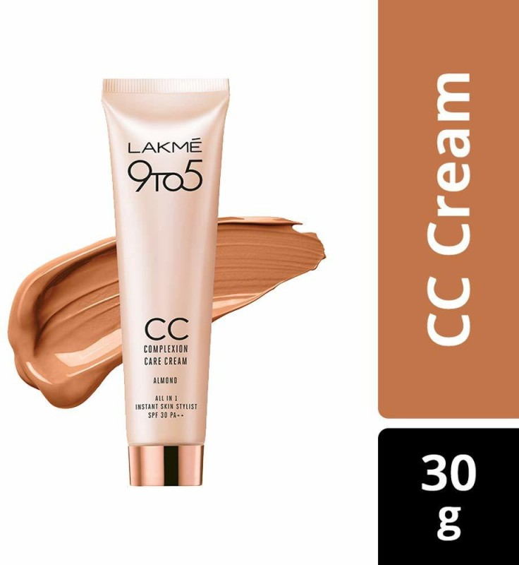 Lakme 9to5 CC Complexion Care Cream Almond SPF 30 PA++ 30g(30 g)
