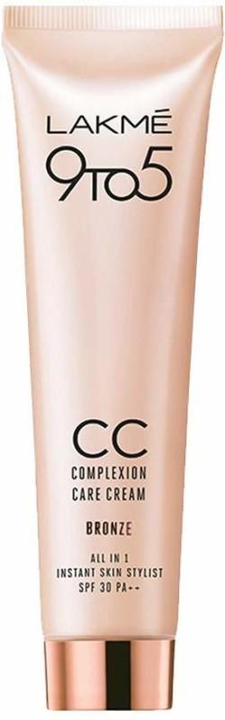 Lakme 9to5 CC Complexion Care Cream Bronze SPF 30 PA++ 30g(30 g)