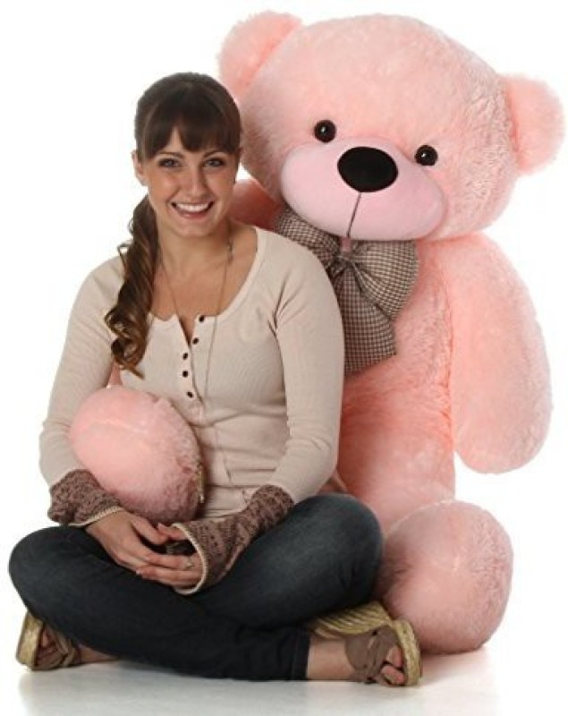 BestLook 4 Feet Teddy Bear with Neck Bow - 121 Cm  (Pink)  - 121 cm(Pink)