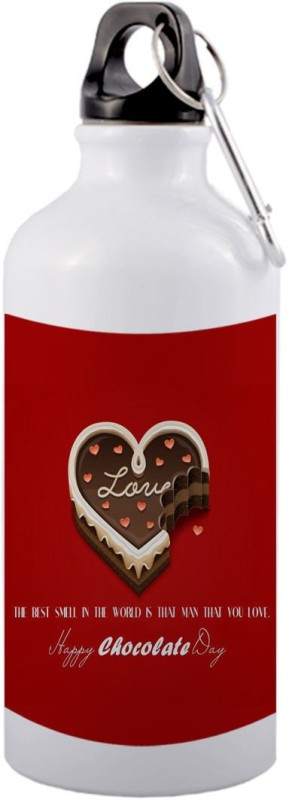 COLOR YARD best happy chocolate day design with quotes and chocolate on 600 ml Sipper(Pack of 1, Multicolor)