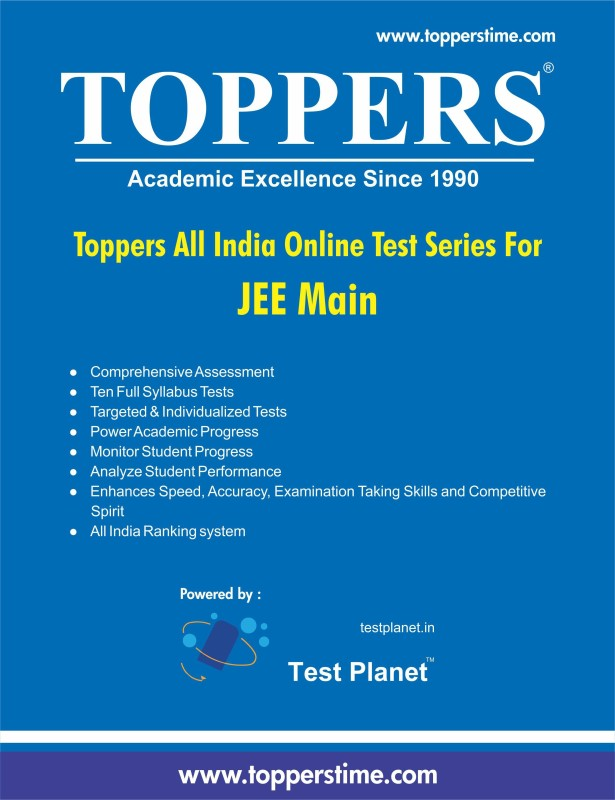 Toppers Infocomm Pvt. Ltd. All India Online Test Series - JEE Main(License Key)
