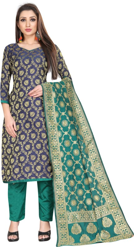 PMD Fashion Brocade Woven Salwar Suit Material(Unstitched)