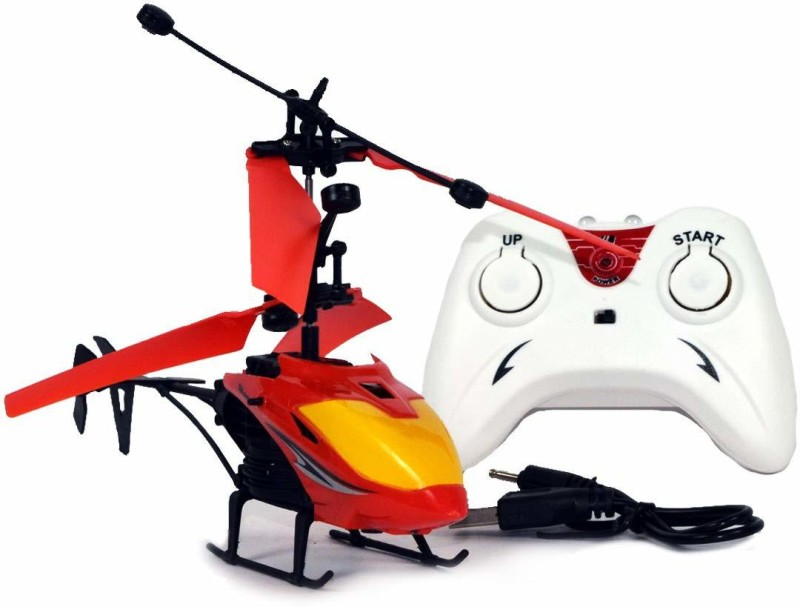 U.N.STORES  Induction Type 2-in-1 Flying Big Indoor Helicopter with Remote for Kids(Multicolor)