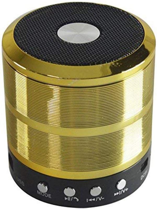 hitvill ws-887 Bluetooth Speaker High Quality Sound Deep Bass ( Gold ) 4 W Bluetooth Speaker(Gold, Mono Channel)