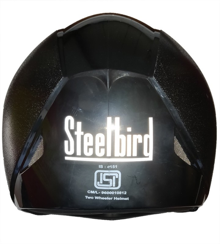Steelbird SB-41 Oscar Classic Oska Flip up Black Motorbike Helmet(Black in Plain Visor)