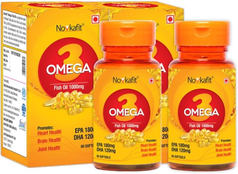 Novkafit Omega-3 Fish Oil 1000 Mg – 120 Softgel Capsules(120 No)