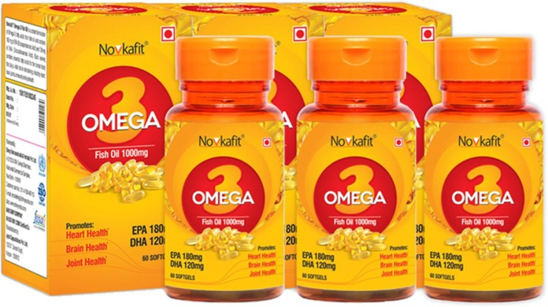 Novkafit Omega-3 Fish Oil 1000 Mg – 180 Softgel Capsules(180 No)