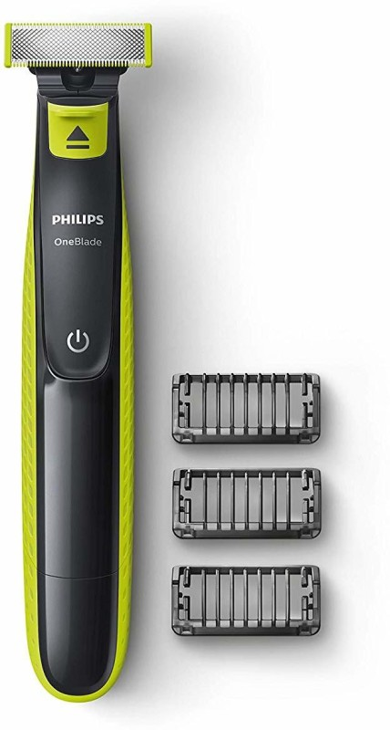 Philips OneBlade QP2525/10 Runtime: 45 min Trimmer for Men(Black, Green)